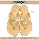 The luxurious leather sandals entertainer habitual use that sandals mystique sandals SWAROVSKI CRYSTAL BIJOU LEATHER SANDAL Swarovski was inlaid with