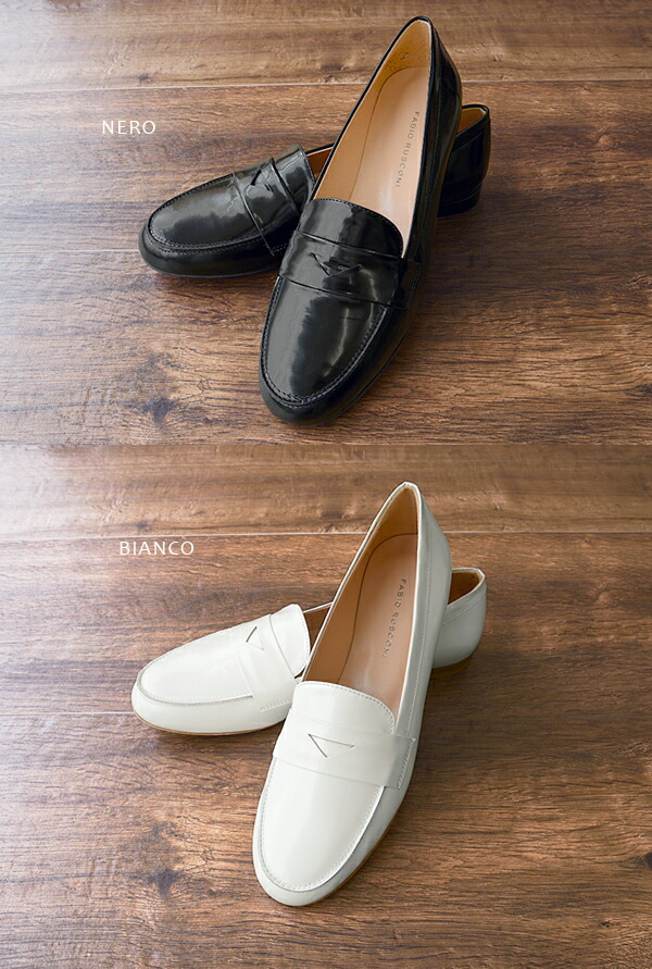Fabio Rusconi �ե��ӥ� �륹�����˥ե�åȥ?�ե��� �쥶�� ���ڥ饷�塼�� ��Leather Flat Loafer ��