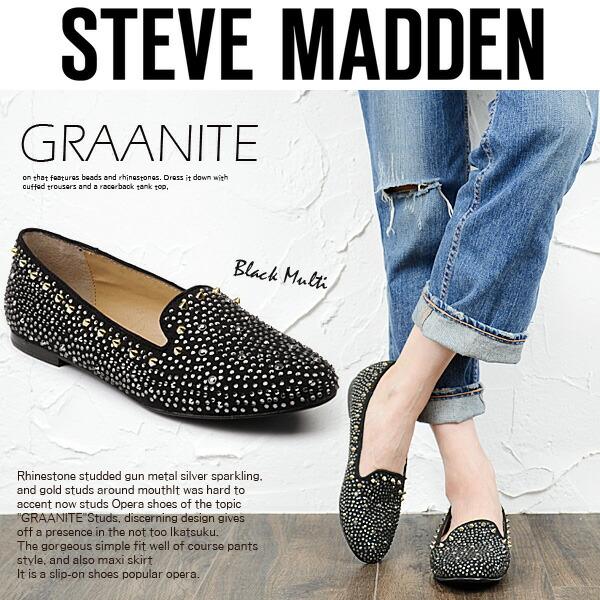 Steve Madden スティーブマデン ラインストーン スタッズ オペラシューズ 《 GRAANITE 》