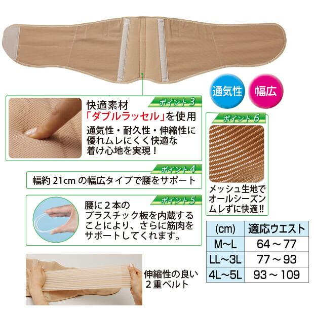 腰サポーター 腰痛ベルト 幅広 日本製 コルセット 腰部ベルト