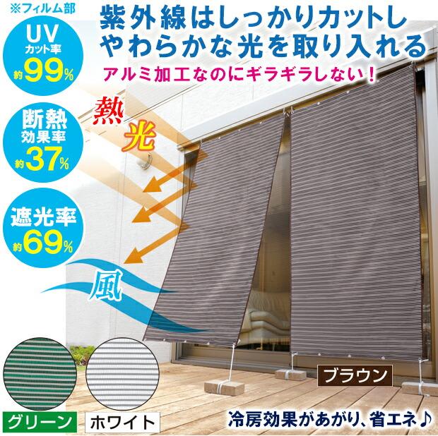 UVカット 紫外線 日焼け 日除け 窓 日よけ すだれ 屋外 ターフ 日陰 日かげ 外