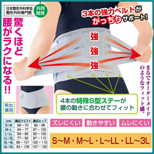 幅広ベルト 腰サポーター 腰痛 日本製 健康 腰安定 運動 歩行