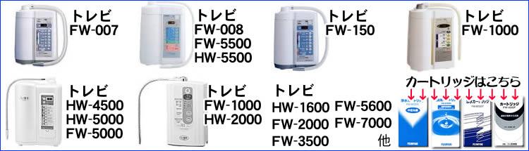 フジ医療器浄水器カートリッジ対応機種