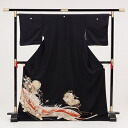 [Black tomesode rental: rental tomesode 4287 fan a court carriage cranes 10P13Dec14