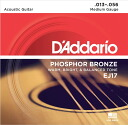 D ' Addario EJ17 Medium D'Addario? s acoustic guitar strings.