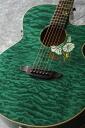 "Luna Guitars Flora moonflower folk quilt map cust fbd? s acoustic guitar."""
