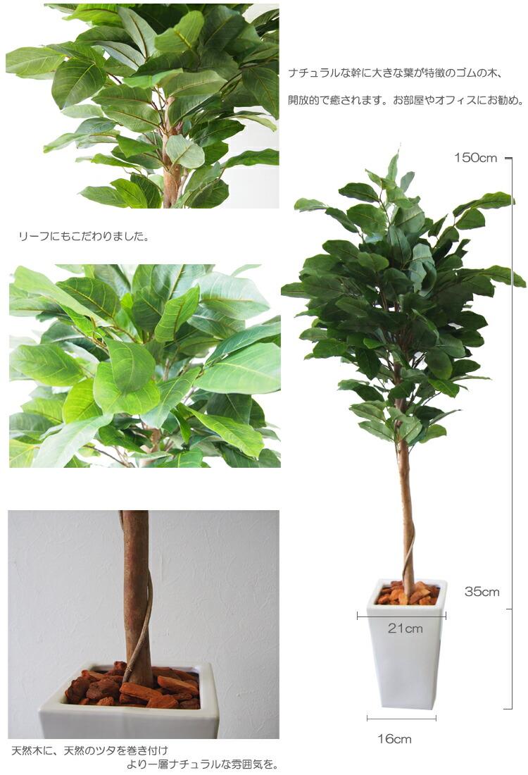 ラバープラント 造花 ゴムの木