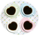 4 Color heart coffee cup ☆ pair