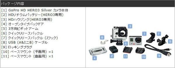 カメラセット内容