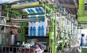 鯉のぼりの水洗工