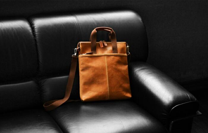 イメージ 日本製 豊岡製鞄 ショルダーバッグ レトロ調 縦型 2WAY A4F アンディハワード【平野鞄】#26513