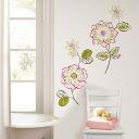 「임금님의 브랜치」2/25방송으로 소개!벽에 붙여가 다투는 스티커[월 스티커 「WALL POPS!」(월 팝스) wall art kits 「des fleurs」]