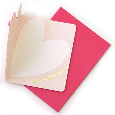 Rakuten: Mini-card heart pink (gift Valentine birthday)
