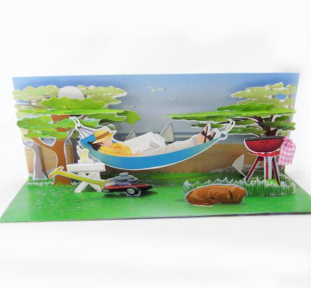 kaderia  rakuten global market long popup greeting card hammock, Greeting card