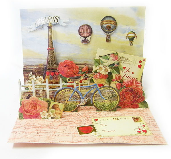 kaderia rakuten global market pop up valentine 39 s day cards paris love eiffel tower rose. Black Bedroom Furniture Sets. Home Design Ideas