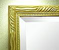「欧風 モダン」スタイル 壁掛け鏡(ウォールミラー):夕陽のフィレンツェ ゴールド