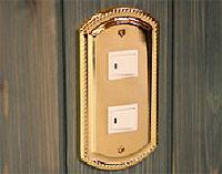 真鍮のスイッチプレート、スイッチカバー、コンセントプレート、コンセントカバー