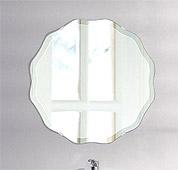 壁掛け鏡・ウオールミラー:クリスタルミラー・シリーズ、こだわりタイプ(ユニークな形状)(国産)