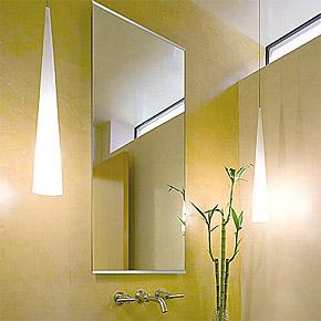洗面鏡・トイレ鏡・化粧鏡・浴室鏡・バスミラー ステンフレーム・シリーズ 上下2方フレーム