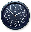 掛時計、掛け時計、壁掛け時計、逆転時計、脳トレ時計