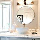 洗面鏡・浴室鏡:国産・最高品質の洗面鏡・浴室鏡・トイレ鏡。切断面のみならず裏面まで完全防湿・防錆