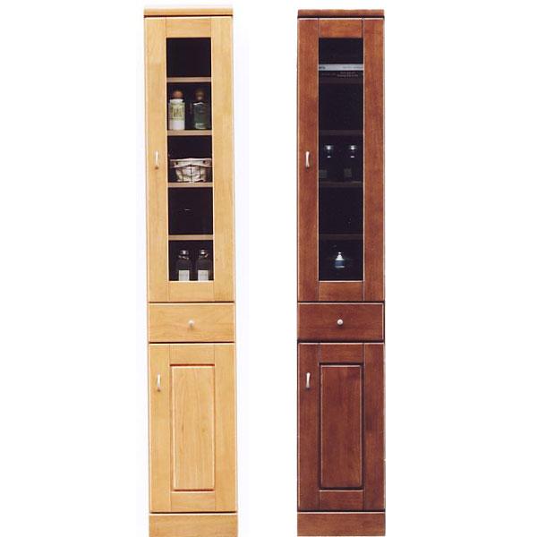 食器棚 スリム型 幅30cm ガラス扉 板扉 隙間収納 キッチン すきま収納 国産 キッチン収納