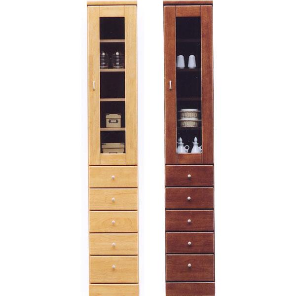 食器棚 スリム型 幅30cm ガラス扉 引出しタイプ 隙間収納 キッチン すきま収納 国産 キッチン収納