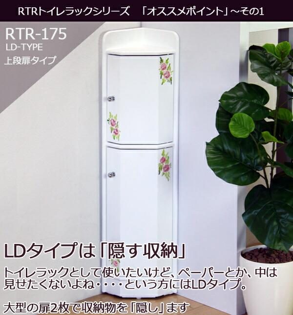 花柄トイレラックRTR-175