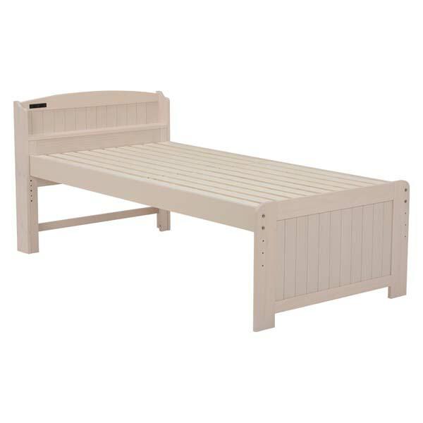 【ベッド】シングルベッド【ベッド部品】萩原 MB-5006S-WS・ホワイトウォッシュ【TD】【】【HH】