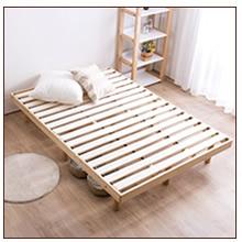 パイン材木製ベッドダブル