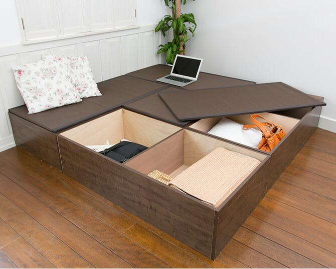 樹脂畳ユニット ハイタイプ 幅120cm 汚れにくいポリプロピレン繊維板を使用した国産の畳ユニット収納