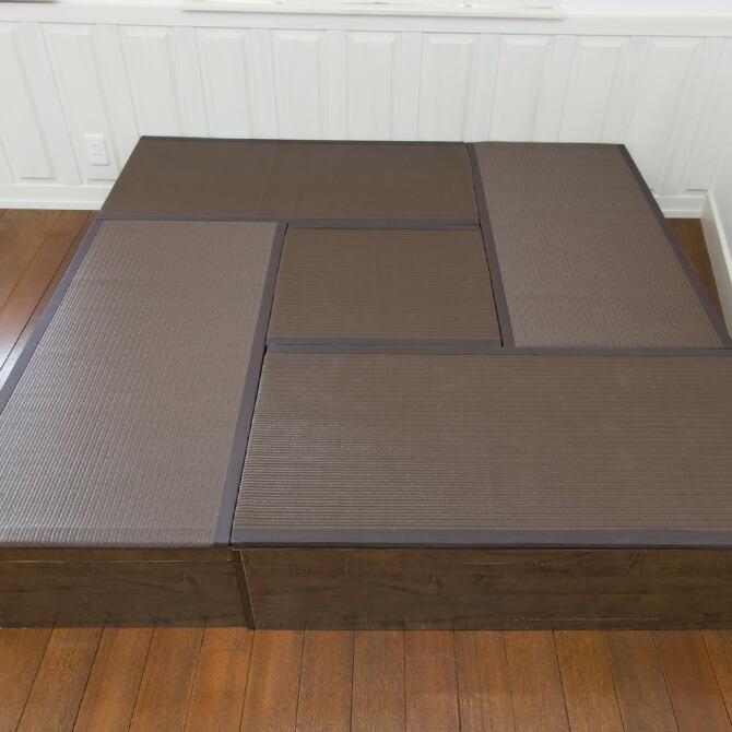 樹脂畳ユニット ハイタイプ 幅120cm 並べておけばリビングに畳の間が出来ます。