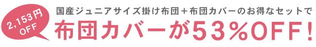 掛け布団_インビスタ社クォロフィル布団_ジュニアサイズ(カバー付き)_01