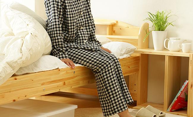 国産すのこベッド_100%ひのき材の照明付き木製すのこベッド_14
