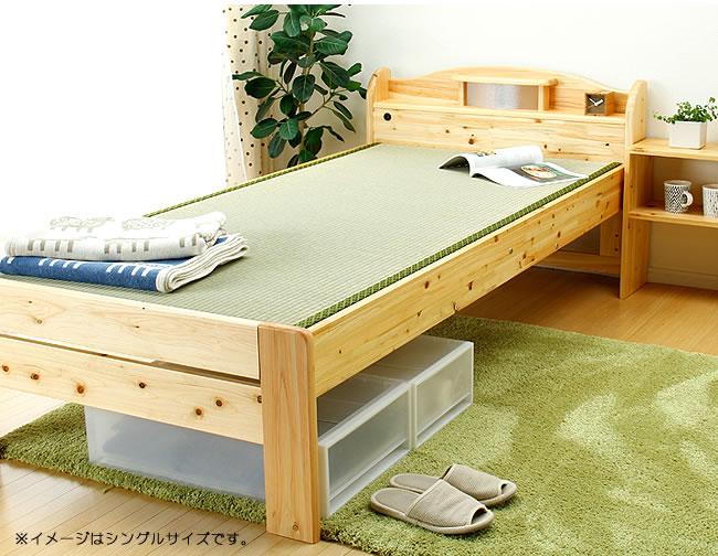 国産畳ベッド_ひのき材の照明つき畳ベッド_01