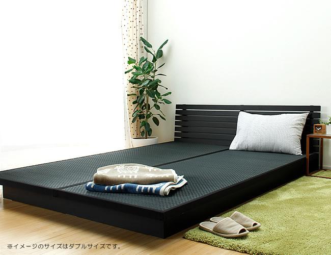 国産畳ベッド_モダンな風合いの木製畳ベッド_01