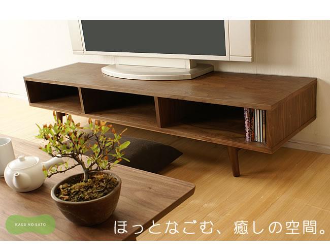 テレビ台・テレビボード_TVボード150(ロータイプテレビ台)emo-05
