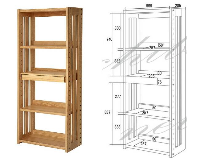 简易书架 书桌上的简易书架