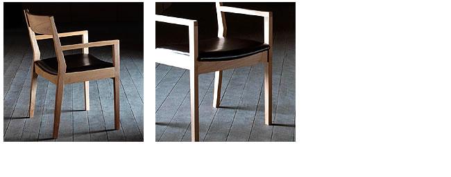 ダイニング_無垢の木製チェアー【ムカイ】(肘付き椅子)-03