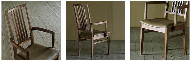 ダイニング_無垢の木製チェアー【フォーマル】(肘付き椅子)-03