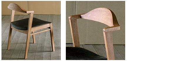 ダイニング_無垢の木製チェアー【プレーン】(肘無し椅子)-03