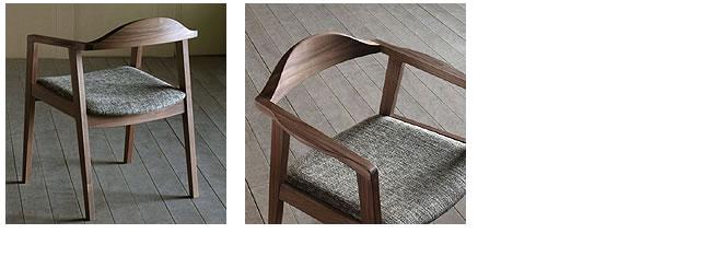 ダイニング_無垢の木製チェアー【プレーン】(肘付き椅子)-03