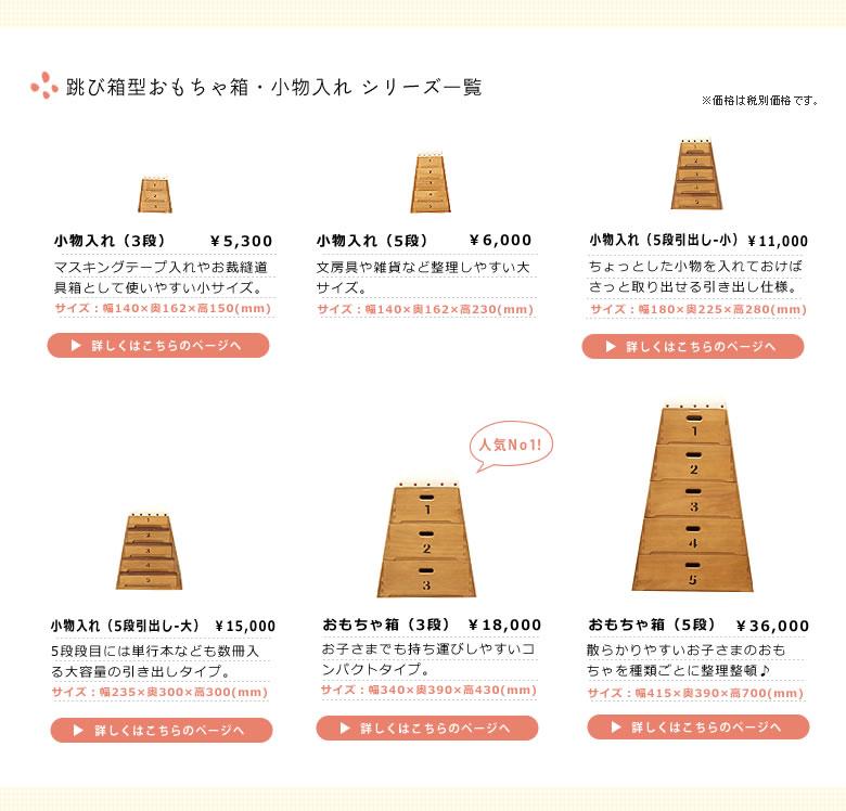 ミニ跳び箱・とび箱小物入れ(5段)09