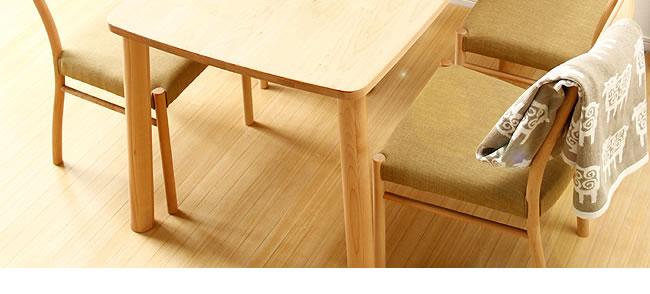 ダイニング_メープル材の質感が爽やかな木製ダイニングチェアー_布座_05