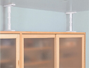 つっぱり棒タイプで施工いらずの家具転倒防止器具「家具ロック」人気の防災グッズ