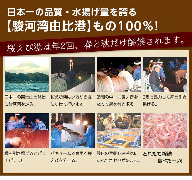 日本一の品質・水揚げを誇る駿河湾由比港もの100%