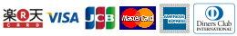 各種クレジットカード決済利用可能(楽天カード・VISA・JCB・Master・AMEX・Diners)