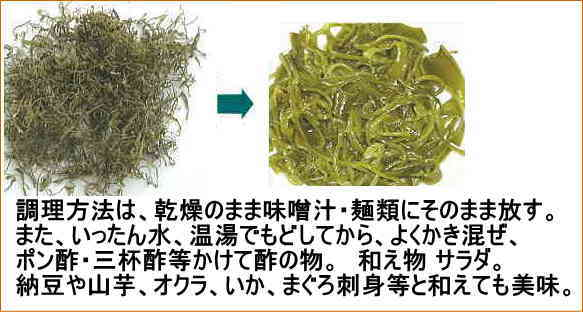メヒビの調理法