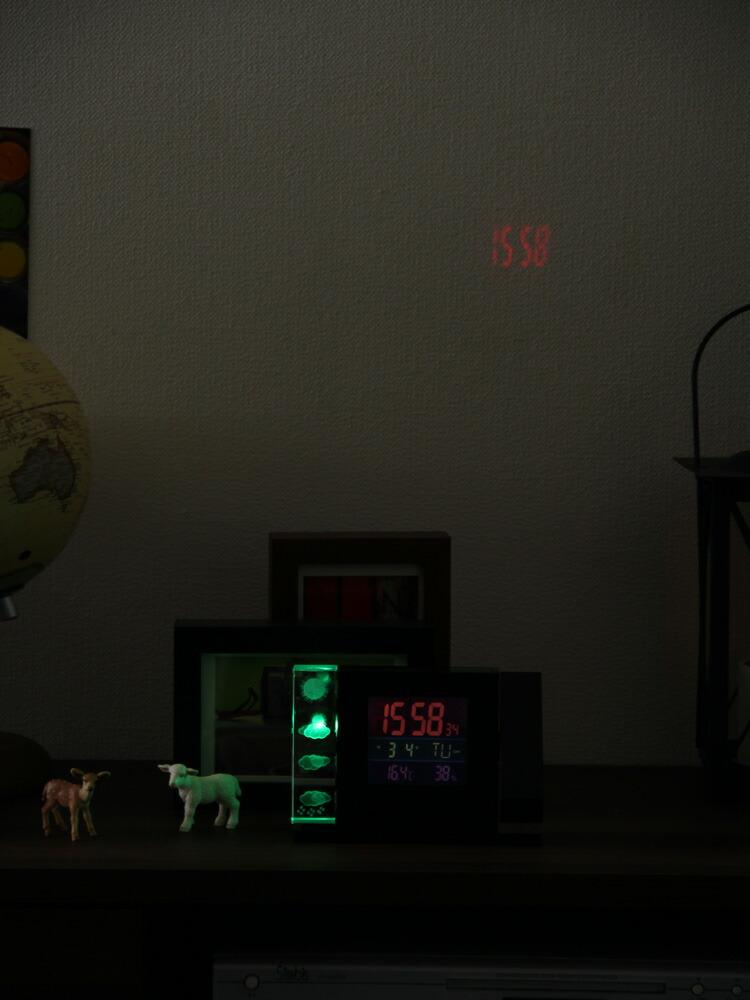 置き時計 デジタル時計 温度計 おしゃれ 天気予報 クリスタルウェザーステーション