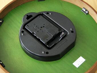 掛け時計 壁掛け時計 電波時計 緑 グリーン イングランド